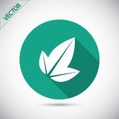 Leaf icon design — Stock Vector