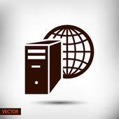 Computer server icon — Stock Vector
