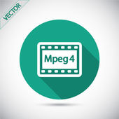 MPEG 4 video icon — Stock Vector