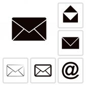 Envelope Mail icon set — Stock Vector