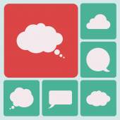 Speech bubble icon set — Stock Vector