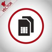 Sim card icon — Stock Vector