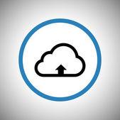 Uploadpictogram in wolk — Stockvector