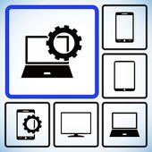 Set Electronic Device Icons — Stock Vector