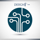 Printplaat, technologie pictogram — Stockvector