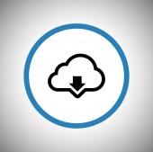 Cloud computing download icoon — Stockvector