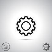 Gear icon. Flat design style — Stock vektor