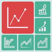 Infographic, chart icon — Vetor de Stock