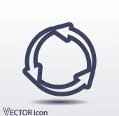 Circular arrows icon — Stock Vector