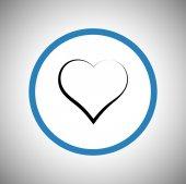 Heart Icon flat design — Stock Vector