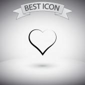 Heart Icon. Flat design style — Stock Vector