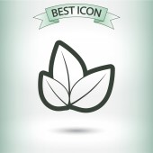 Tree leaves icon — Stock Vector
