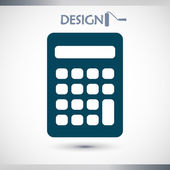 Icono calculadora — Vector de stock