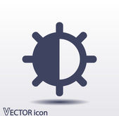 Brightness and contrast icon — Stock Vector