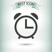 Clock icon design — Vetor de Stock