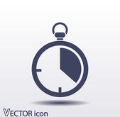 Stopwatch icon design — Stock Vector