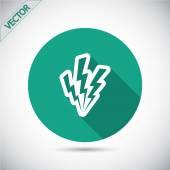 Lightning icon design — Stock Vector