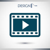 Video icon, flat design — Stock Vector