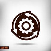 Icono circular flechas — Vector de stock