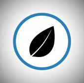 Tree leaves icon — Vetor de Stock