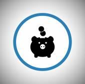 Moneybox icon design — Stock Vector