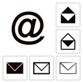 Envelope Mail icon set — Vector de stock