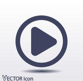 Play button web icon — Stock Vector