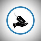 Label pictogram design — Stockvector