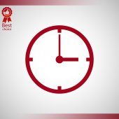 Saat simgesi tasarımı — Stok Vektör