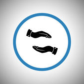 Hands icon design — Vector de stock