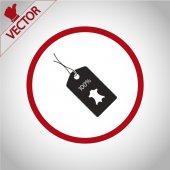 ícone de marca de couro do 100 por cento — Vetor de Stock