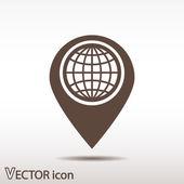 Mark icon, pointer — 图库矢量图片