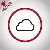 Cloud icon  Flat design style — Vettoriale Stock