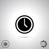 Disegno dell'icona dell'orologio — Vettoriale Stock