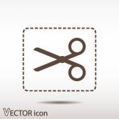 Scissors flat icon — Stock Vector