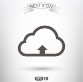 Cloud upload icon — Stock Vector