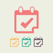 Calendar icon, vector illustration. Flat design style — Stock Vector
