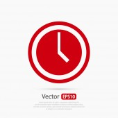 Clock icon design — Stock Vector