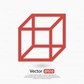 Cube icon,  Flat design — Stock Vector