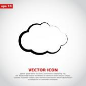 Cloud icon design — Stock Vector