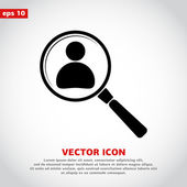 Employee Search icon — Stock Vector