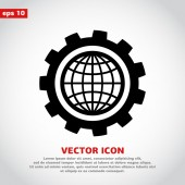 Zahnrad-Icondesign — Stockvektor