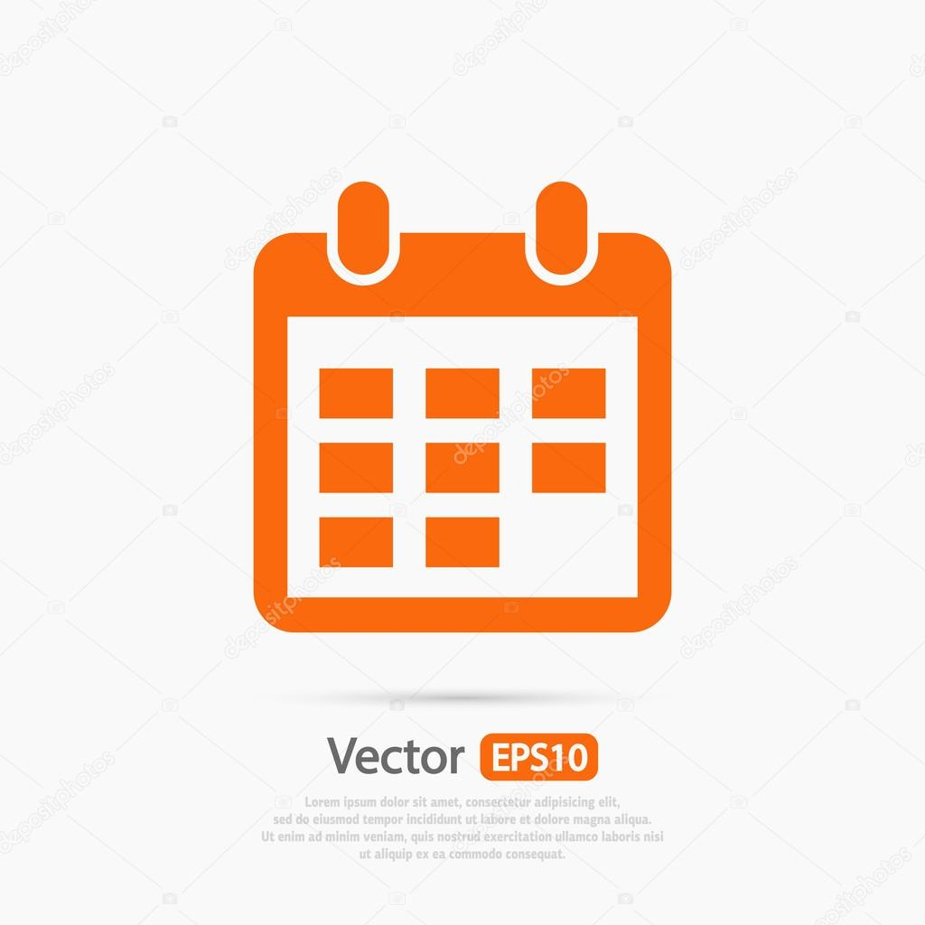 Blue Business Calendar 30 Icon Stock Vector - Illustration