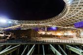 Stor sport stadium konstruktion — Stockfoto