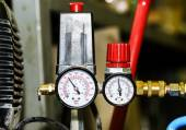 Electrical and pressure measurement parts of machine — Stock Photo