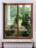 New sliding fiberglass doors for terrace — Stock Photo