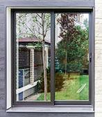 New fiberglass windows for apartments — Stock Photo