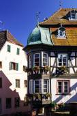 Traditional half-timbered houses in Alsace — Stock Photo