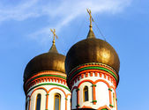 Orthodox church domes in Moscow, Russia — Stock Photo