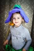 Little girl dressed in carnival costume — Stock Photo
